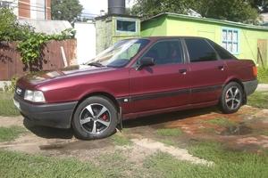 Автомобиль Audi 80, хорошее состояние, 1987 года выпуска, цена 110 000 руб., Воронеж