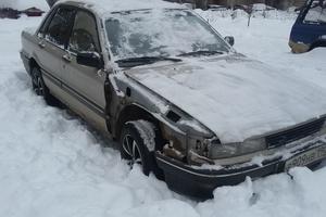 Автомобиль Mitsubishi Galant, среднее состояние, 1989 года выпуска, цена 30 000 руб., Черноголовка