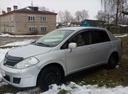 Подержанный Nissan Tiida, серебряный металлик, цена 325 000 руб. в Смоленской области, хорошее состояние