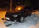 Подержанный Mitsubishi Outlander, черный , цена 650 000 руб. в Архангельске, битый состояние