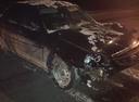 Подержанный ВАЗ (Lada) Priora, черный металлик, цена 160 000 руб. в ао. Ханты-Мансийском Автономном округе - Югре, битый состояние