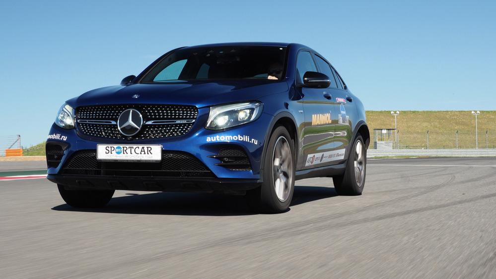 Тест-драйв Mercedes-AMG GLC 43 Coupe на треке – читать и смотреть фото на Am.ru