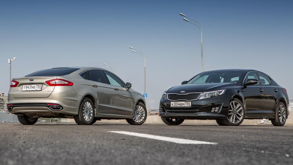 Сравнение седанов Ford Mondeo и KIA Optima – тест-драйв с фото от автожурнала Ам.ру