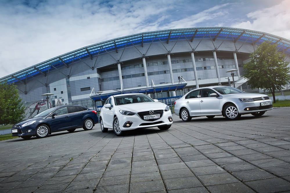 Тест-драйв Ford Focus, Mazda 3 и Volkswagen Jetta - Чемпионат мира - Журнал am.ru