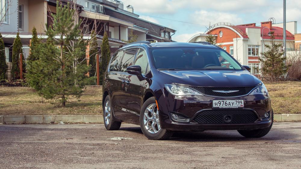 Первый тест-драйв нового Chrysler Pacifica.