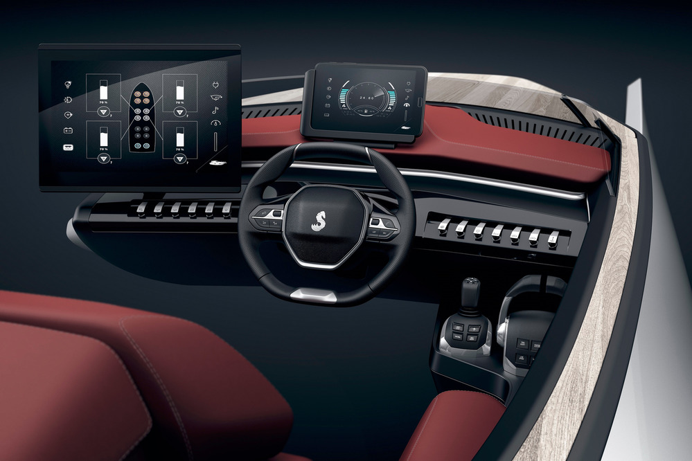 Peugeot (Пежо) показала дизайн шикарной моторной лодки Sea Drive