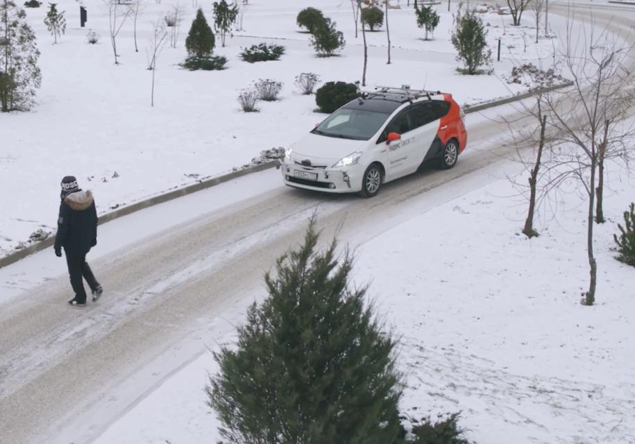 Беспилотный автомобиль испытали взимних условиях— столичная область