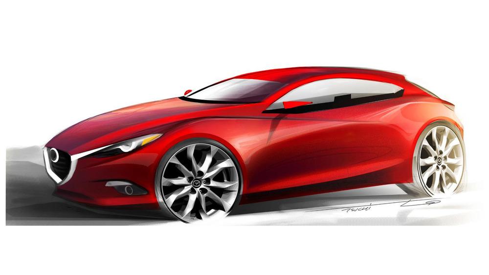 Новый тип Mazda3 получит бензиновый мотор безискрового зажигания