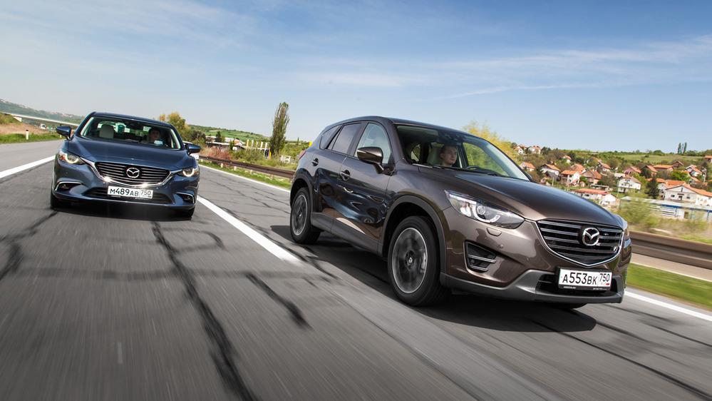 Тест-драйв обновленных Mazda6 и Mazda CX-5