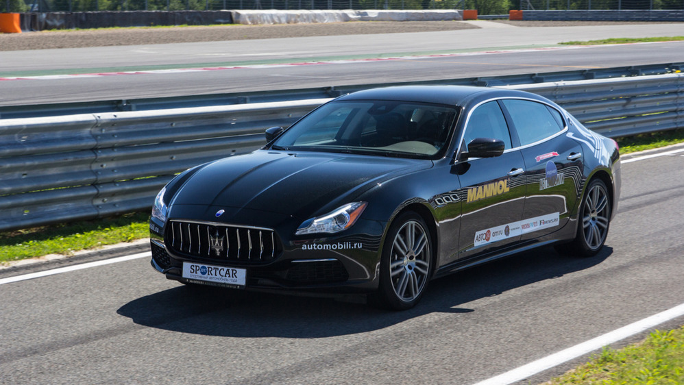 Тест-драйв Maserati Quattroporte S Q4 на треке – читать и смотреть фото на Am.ru
