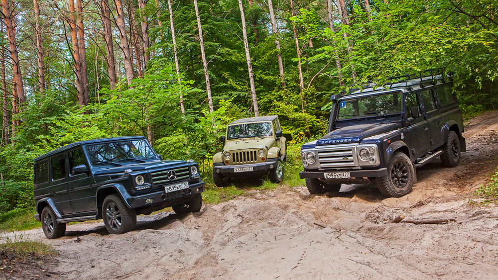 Сравнительный тест Land Rover Defender 110, Jeep Wrangler Unlimited и Mercedes-Benz G350d – смотреть фото и читать на Am.ru