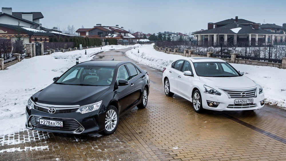 Сравнительный обзор Toyota Camry и Nissan Teana