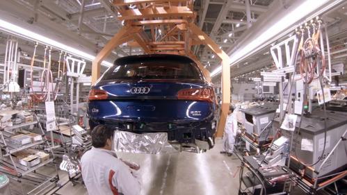 Полный технологический цикл производства новой Audi Q5 за считанные минуты.