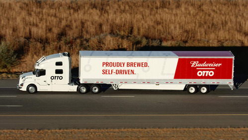 Грузовик-автопилот отвёз 50 000 банок пива – смотреть видео на Am.ru