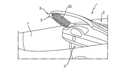 Porsche запатентовала подушки безопасности в передних стойках.Новости Am.ru