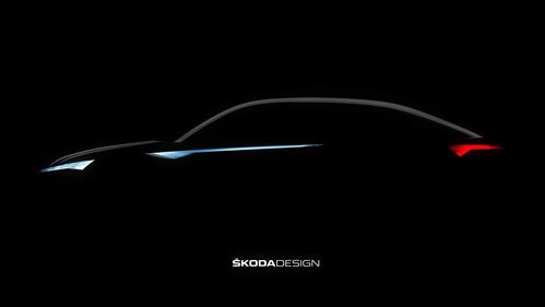 Skoda рассекретила купе-кроссовер тизером.