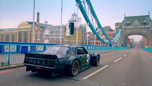 Дрифт Кена Блока в Лондоне, обернувшийся скандалом для  Top Gear.