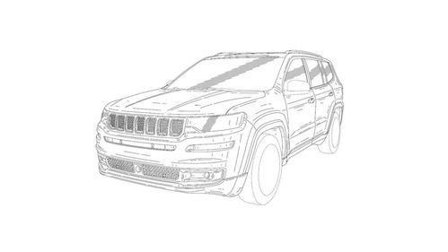 В интернете появились изображения нового большого Jeep.