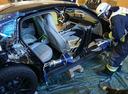Новый Porsche Panamera пожертвовали пожарным на растерзание.