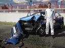 Человек вместо манекена в краш-тесте Hyundai Solaris.
